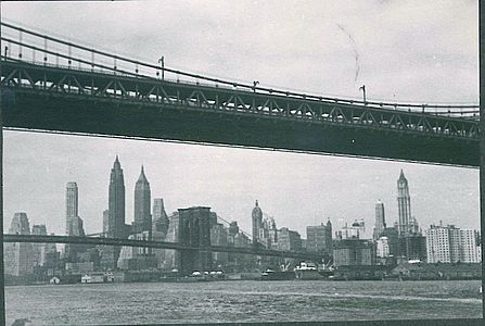 Skyline New York Impressionen Studienaufenthalt 1949